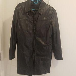 Men Leather Coat.